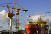 Vigo shipyards — Stock Photo