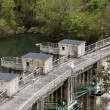 Stock Photo: Dam floodgates detail.