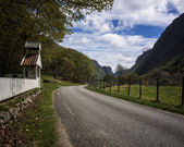 The road leading further in Oersdalen — Stock Photo