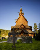 Heddal Stave church — Stock Photo