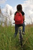 Riding a bike — Stock Photo
