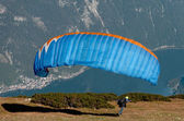 Starting paraglider — Stock Photo