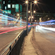Busy City Traffic at Night — Stock Photo