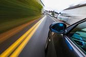Luxusní sedan rychlé jízdy — Stock fotografie