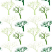 Seamless pattern with randomly spaced trees — Stock Vector