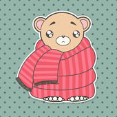 Funny cute bear — Stockvektor