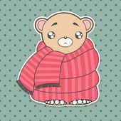 Funny cute bear — Stock Vector