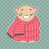 Funny cartoon bear — Vetorial Stock
