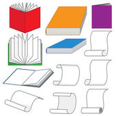 Set of books — Stock Vector