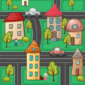 Suburbs and houses — Stock Vector