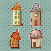 Set houses — Stock Vector