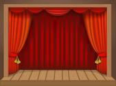 Teatr scena — Wektor stockowy