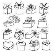 Set of gift boxes — Stockvektor