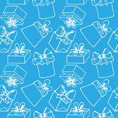 Seamless pattern with gift boxes — ストックベクタ