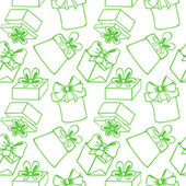 Seamless pattern with gift boxes — Stockvektor