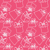 Seamless pattern with gift boxes — Vecteur