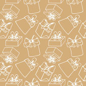 Seamless pattern with gift boxes — Vettoriale Stock