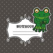 Caderno de capa — Vetorial Stock