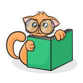 Little funny cartoon cat — Stock Vector