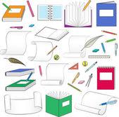 文房具の大規模なセット — ストックベクタ