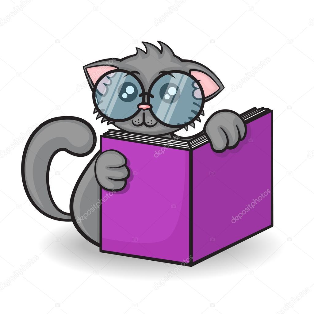 Gattino divertente cartone animato — vettoriali stock
