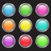 Set buttons — Stock Vector