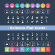 Постер, плакат: Flat icon science