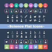Science de l'icône plate — Vecteur