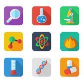 Flat icon science — Stock Vector