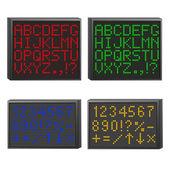 Set di scheda elettronica — Vettoriale Stock