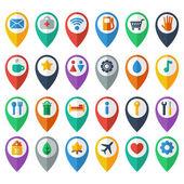 Navigation icons — Stock Vector