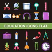 Flat icons — Vector de stock