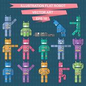 Flat robots — Wektor stockowy