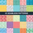 Set of seamless patterns — Vector de stock