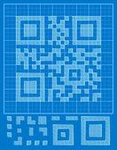 Vector QR-code — Stok Vektör