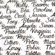 Cursive Handwriting Names - Foto Stock