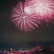 Red Fireworks In Montreal, Canada. — Stock Photo #14831979