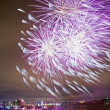 Stock Photo: Fireworks Display in Montreal, Canada