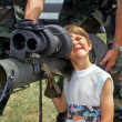 Boy with Bazooka — Stock Photo