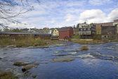 Młyn miasteczka w Nowej Anglii — Zdjęcie stockowe