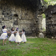 Dancing in the Ruins of Ermita — Stock Photo