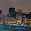 Montreal Night Skyline — Stock Photo