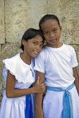 Girls in White Dresses — Stock Photo