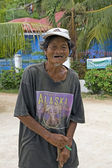 Vecchio uomo filippino — Foto Stock