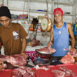 Stock Photo: Meat Market