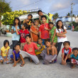 Large Group of Filipino Children — Stock Photo