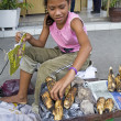 Young Filipino Girl Working — Stock Photo