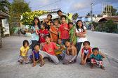 Large Group of Filipino Children — Stock Photo