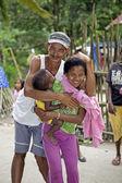 Filipino Aeta Family — Stock Photo