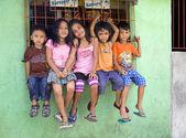Five Beautiful Philippine Children — Stock Photo